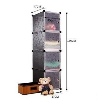 ФОТО Wire cabinet wire storage cabinet storage cabinet baby wardrobe diy plastic storage cabinet HS-23
