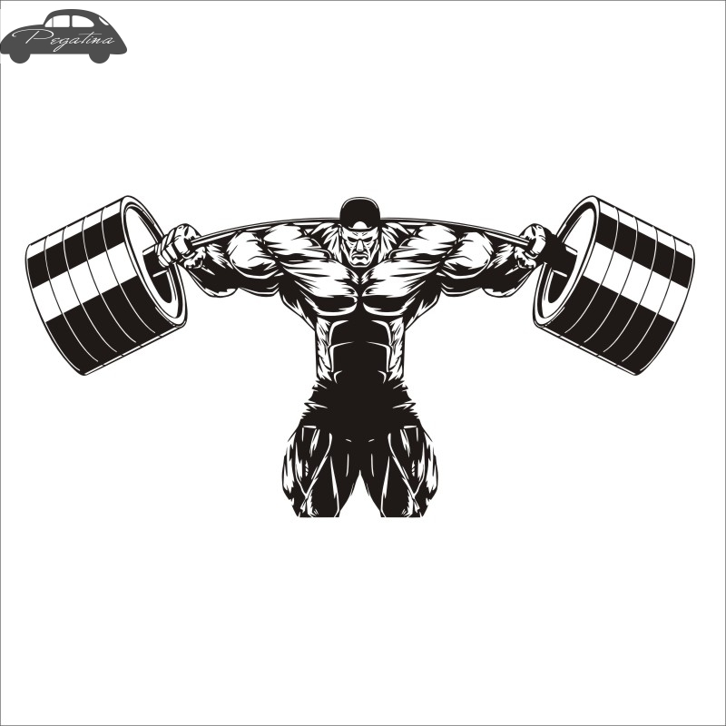 Pegatina Car Gym Sticker Fitness Decal Body-building Posters Vinyl Wall Decals Quadro Parede Decor Mural Gym Sticker