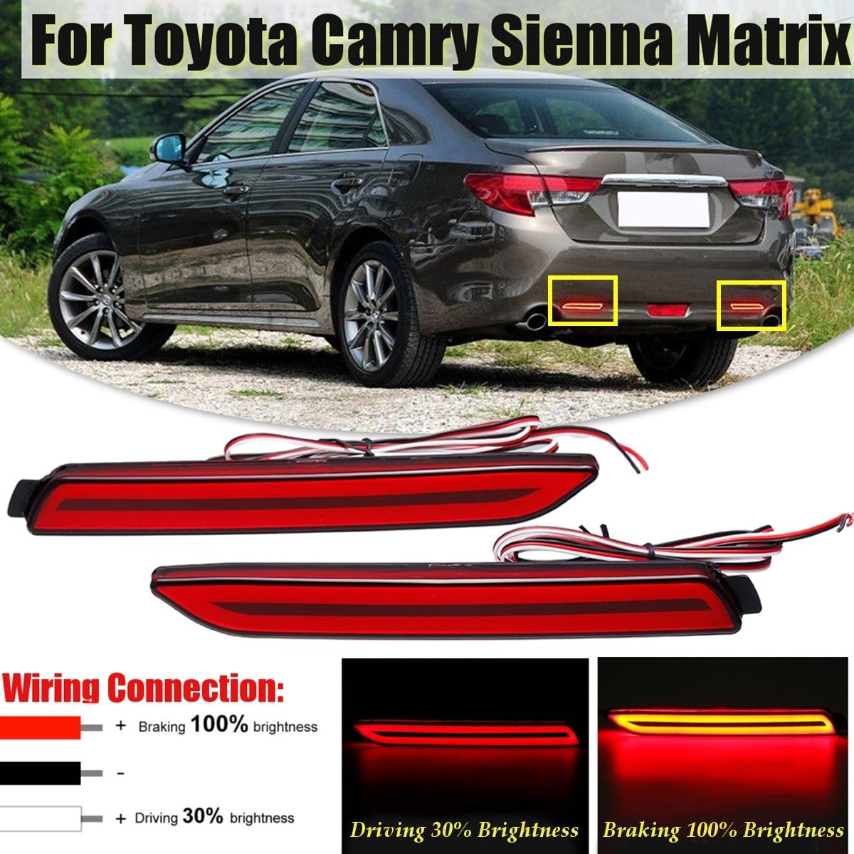 1pair Led Stop Lamp Rear Bumper Reflector Warning Tail Brake Stop Signal Light For Toyota Camry For Matrix For Lexus Reiz Matrix