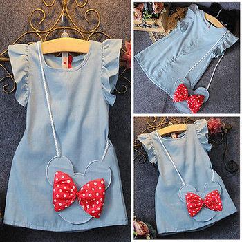 Demin Casual Dresses For Girls 2