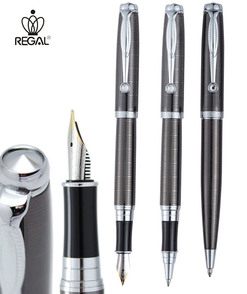 Fountain Pen / RollerBall pen / Ballpoint pen plating drawbench Gray Origina REGAL 503-1611 sign pens  FREE SHIPPING
