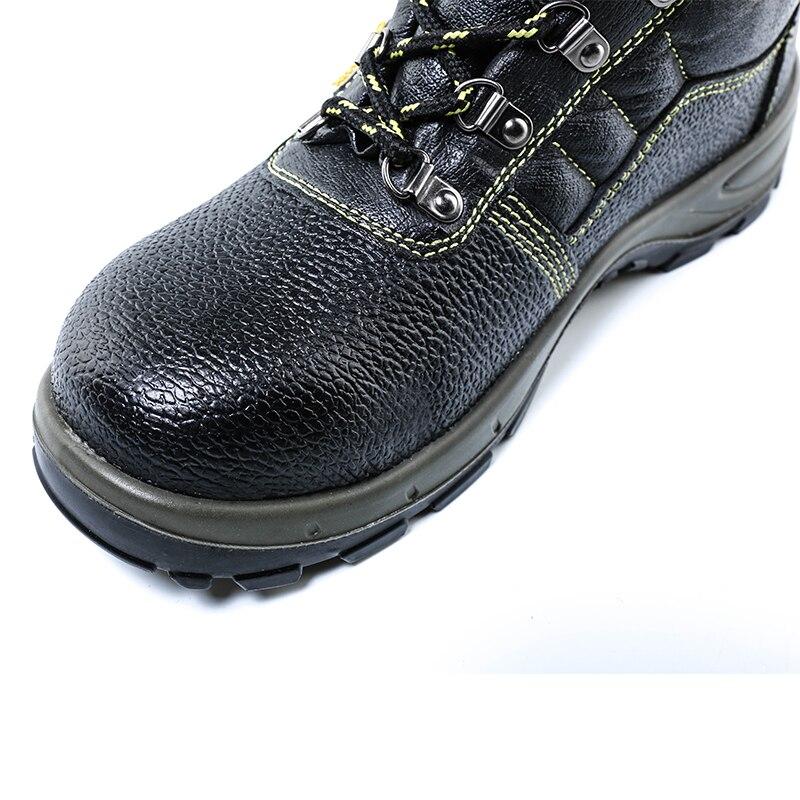 Grande Puntera Prueba Para Tamaño Genuino Hombres Seguridad Cuero Trabajo Botas 3 Safety A Aire De Polvo Al Los Acero Shoes Zapatos Men Libre qv0Ta