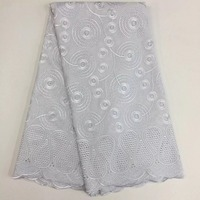 African Eyelet Swiss Voile Lace For Men Women High Quality Wedding Polished Cotton Lace African Fabric
