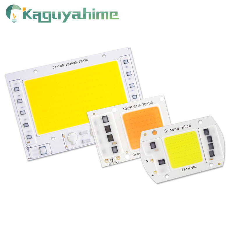 Kaguyahime COB LED Chip 220V 5W 20W 30W 50W Smart IC Integrated Cob Chip DIY For LED Floodlight Spotlight Lamp Beads Grow Light