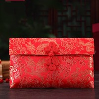 Dragon Chinese Dragon Pattern Button Style Chinese Wedding Cloth Red Packets Gift Envelopes