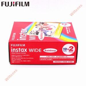 Image 3 - Tout nouveau Fujifilm Instax Film large arc en ciel Twin Packs (20 Photos) pour appareil Photo instantané Instax 200 210 livraison gratuite