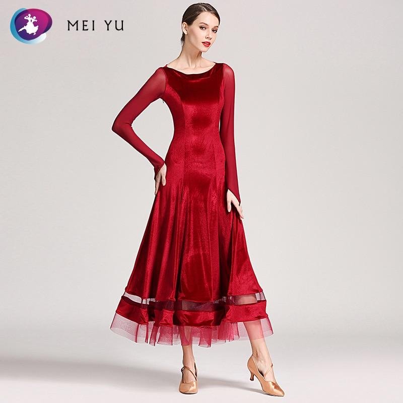 Mei Yu S9048 Moderne Dans Kostuum Vrouwen Lady Dancewear Waltzing Tango Dansen Jurk Ballroom Kostuum Avond Party Dress Wees Vriendelijk In Gebruik
