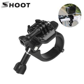 цена на SHOOT 360 Rotary Clamp Handlebar Pole Tube Mount for GoPro Hero 7 8 5 4 Xiaomi Yi 4K Eken Sjcam Action Cam for Go Pro Accessory