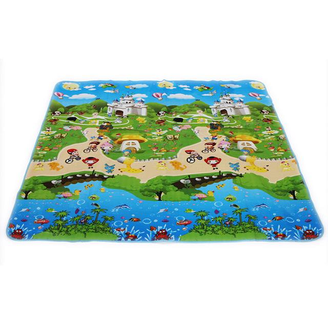 150*180 cm Brinquedos Do Bebê Espuma Esteira do Jogo Chão Vhildren Crianças Tapete Tapete para Crianças Carta Animais Paraíso segurança Crianças Suba Blanket