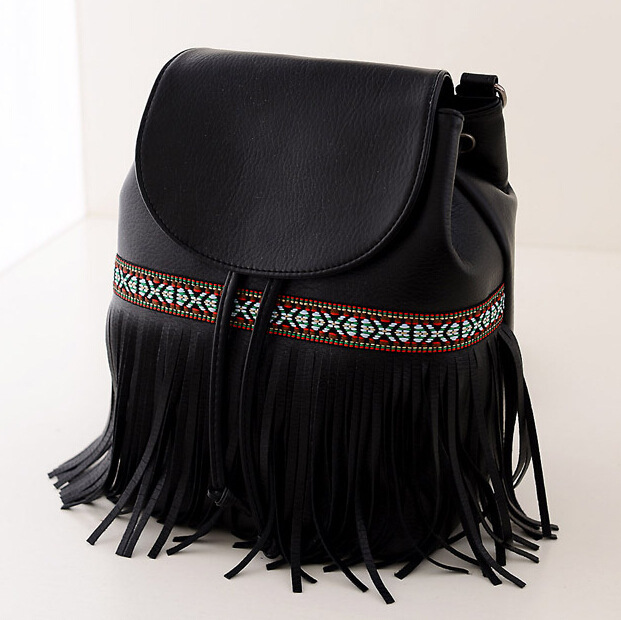 1977e4a7a5 2015 the latest European design women backpack Fashion fringed leather backpack  Bohemian backpacks for teenage girls mochila -in Backpacks from Luggage ...
