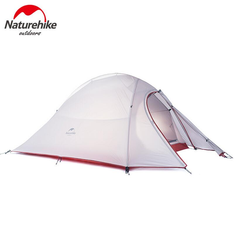 NatureHike Outdoor Camping Tent 2 3 Person Waterproof Double Layer 4 Season 1 Person Beach Fishing Hiking Tents Tourist tenda waterproof tourist tents 2 person outdoor camping equipment double layer dome aluminum pole camping tent with snow skirt