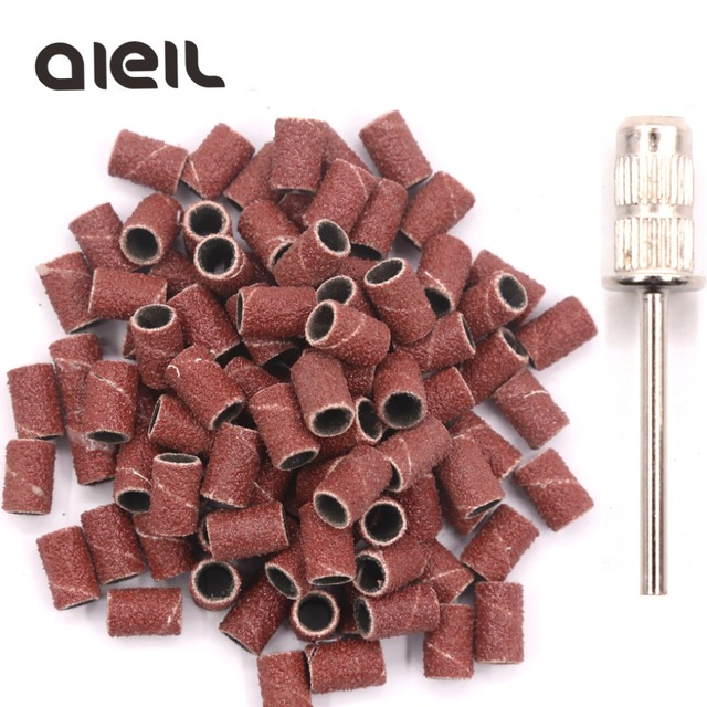 100PCS Sanding Bands + Emery Rod Cutter For Pedicure Machine Sanding Band for Pedicure Foot Electric Cutters For Pedicure Tool
