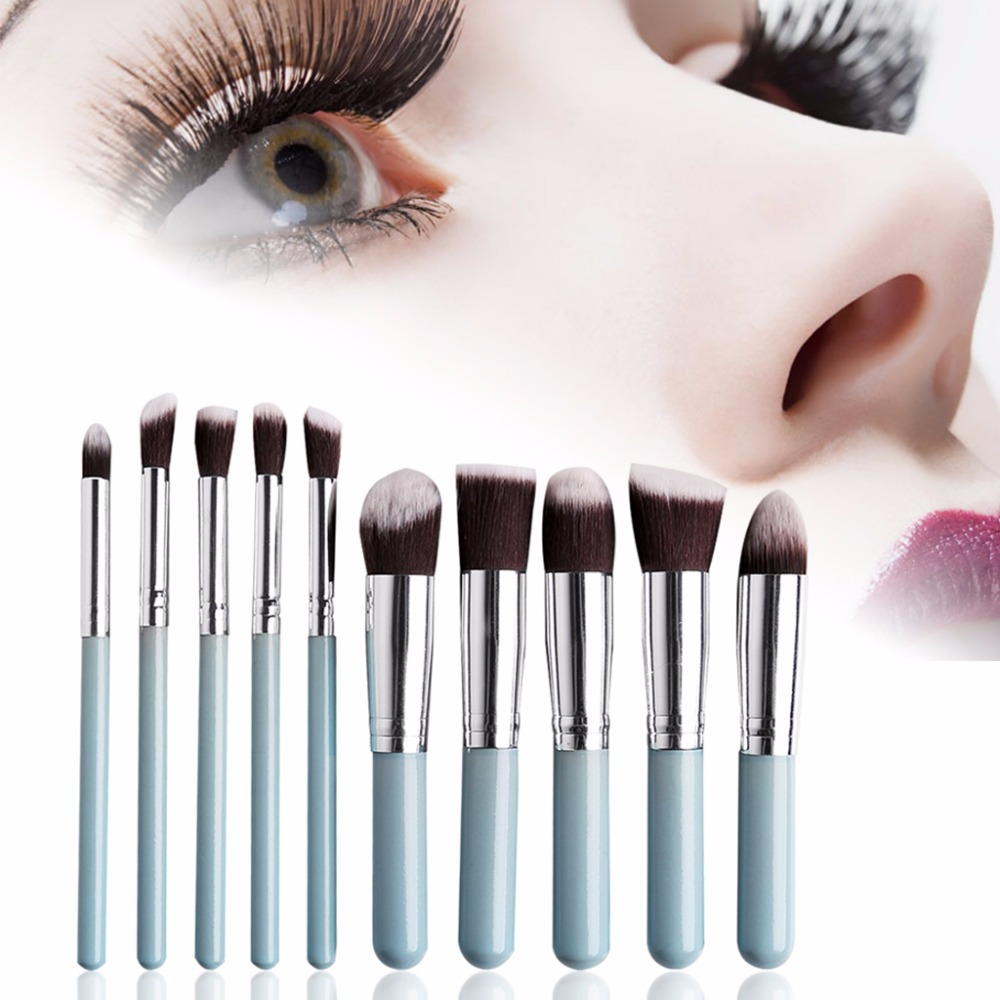 10Pcs Pro Makeup Brush Cosmetic Set Eyeshadow Powder Foundation Beauty Blush delicate cosmetic brush 10pcs