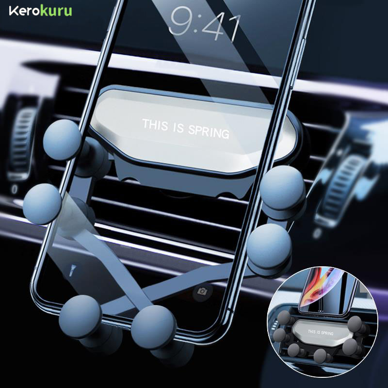 Gravity Car Phone Holder For Iphone X Xs Max Samsung S9 In Car Air Vent Mount Car Holders For Xiaomi Huawei Mobile Phone Stand
