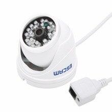 Escam Peashooter QD520 Mini Camera Support Onvif 720P H.264 1/4 CMOS 3.6mm Fixed Lens Night Vision P2P Mini Dome IP Camera