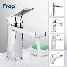 Frap robinetterie de lavabo en acier inoxydable chromé, robinetterie de salle de bains mitigeur dévier robinetterie Vanity eau chaude et froide, robinetterie en laiton