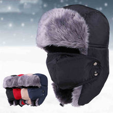 8f0605fb1cb5c Winter Motorcycle Face Mask Moto Trapper Trooper Hat Balaclava Cap  Windproof Warm Ear Flap Ski Hunting