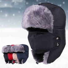 Winter Motorcycle Face Mask Moto Trapper Trooper Hat Balaclava Cap Windproof Warm Ear Flap Ski Hunting Bomber Hat Face Shield