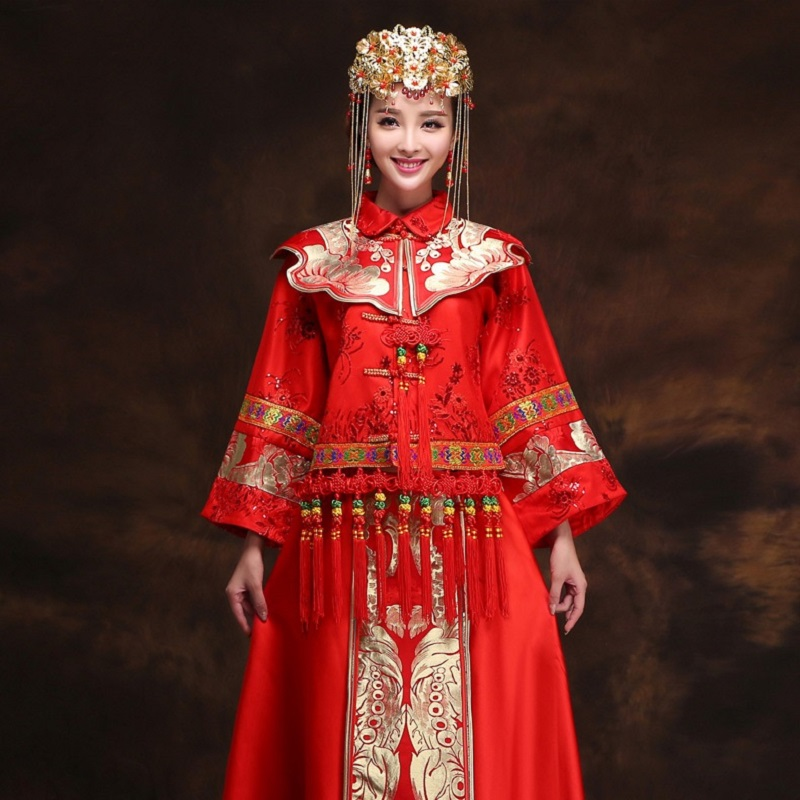 Popular ancient chinese wedding dress buy cheap ancient for Wedding dresses in china