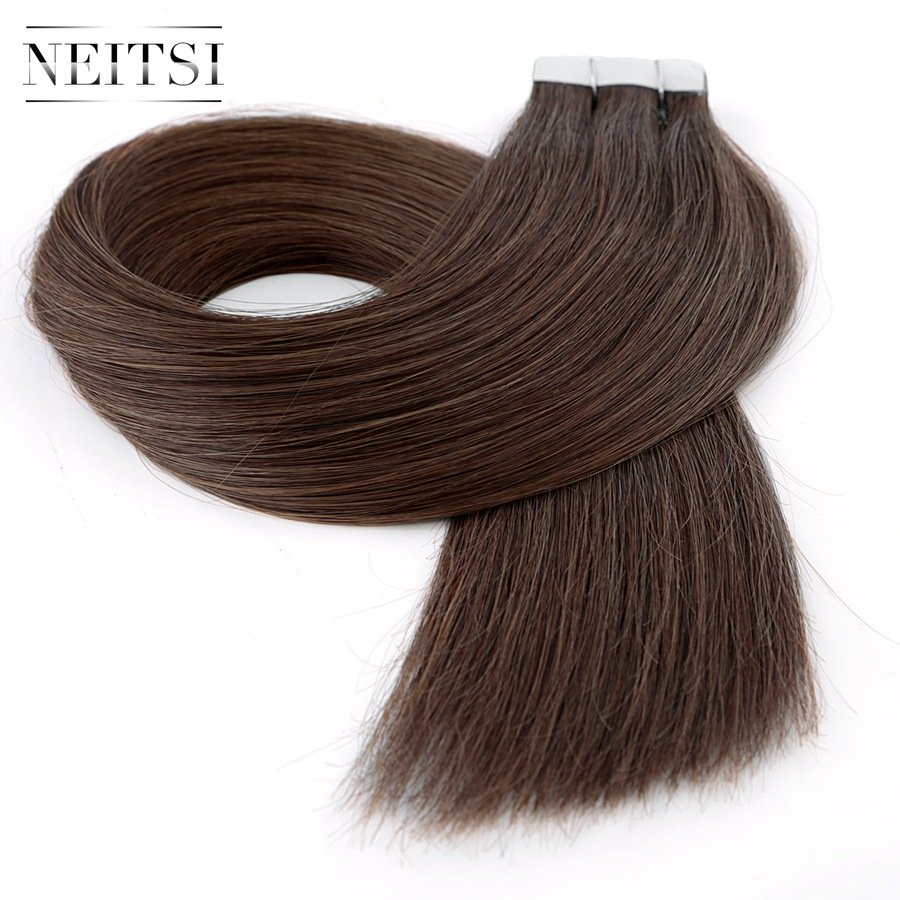 Neitsi Straight Remy Tape In Human Hair Extensions 8# Double Drawn Skin Weft Hair