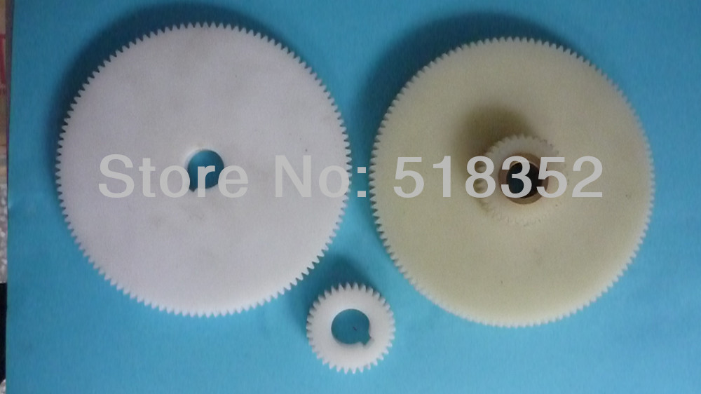 Nylon Timing Gear Set Including 3 Pieces for EDM Wire Cut Machine Parts