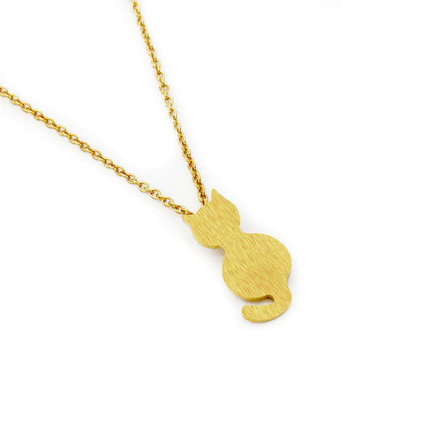 Little Cat Choker Gold Chain Jewelry 9