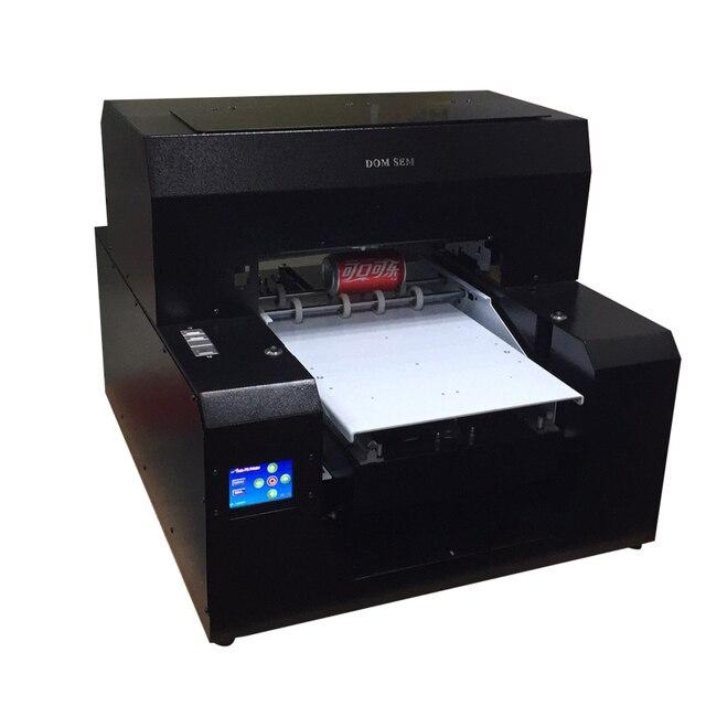 DOMSEM Multi-funcional botella impresora A3 de inyección de tinta UV de Digital ronda tubo cilindro plana objetos planos máquina de impresión de logotipo