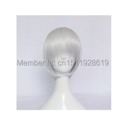 Ichimaru Gin/Dante Short Silver Straight Cosplay Wig