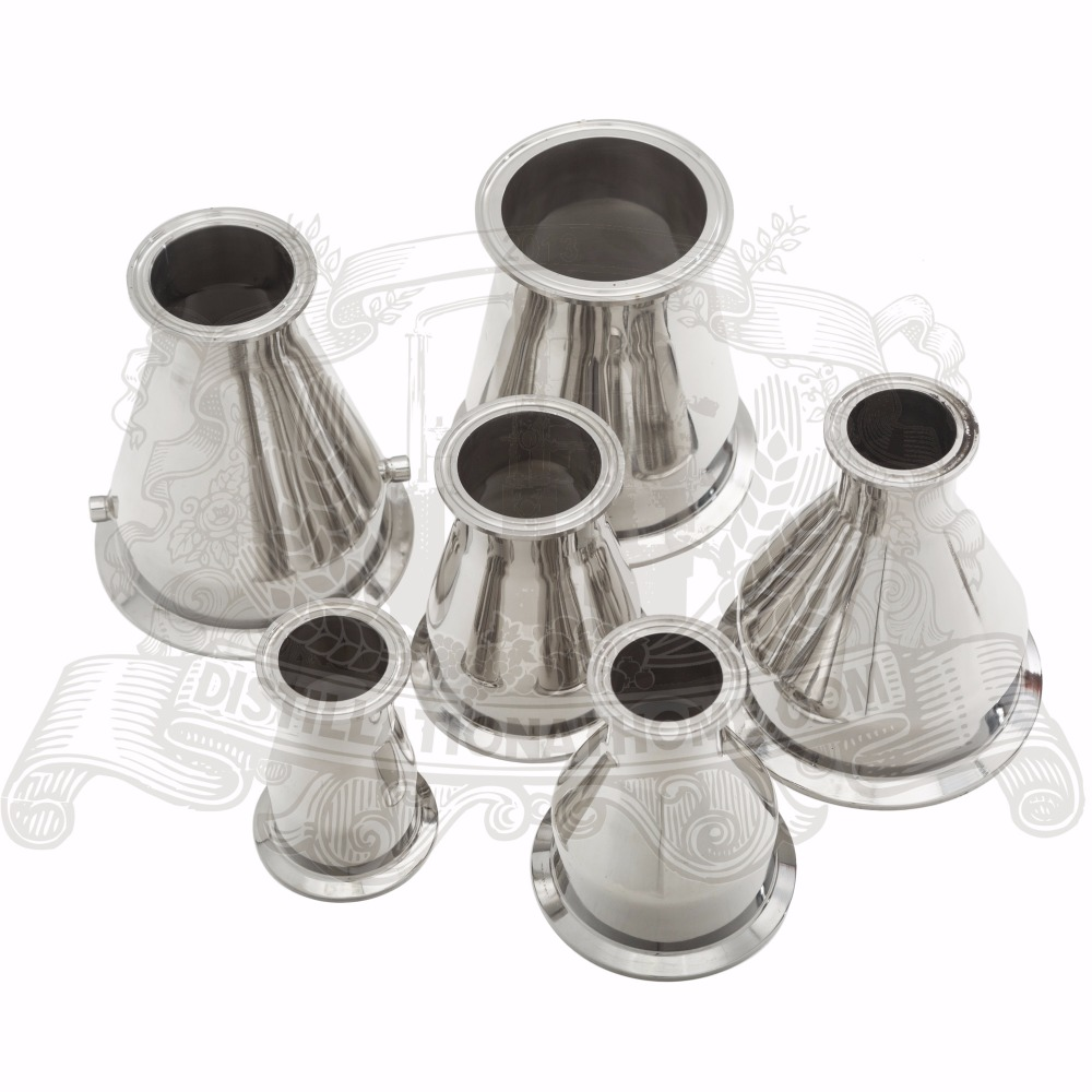 Tri- Clamp Reducer 2(51mm)OD64 x 3 (76mm )OD91 . SS 304 Stainless Steel 2 51mm od64 500mm tri clamp pipe sanitary stainless steel 304 and 3 0m stainless steel mesh stainless steel packing