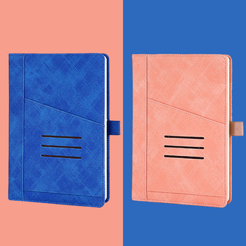 A5 Leather Notebook With Business Meeting Working Record Book College Students'Postgraduate Examination Classroom Notes Notebook
