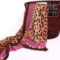 Mulheres Cachecol De Lã marca de moda impressão Leopardo Sarja patchwork macio Morno do Inverno Cachecóis e xale Feminino grande size190cm * 63 cm