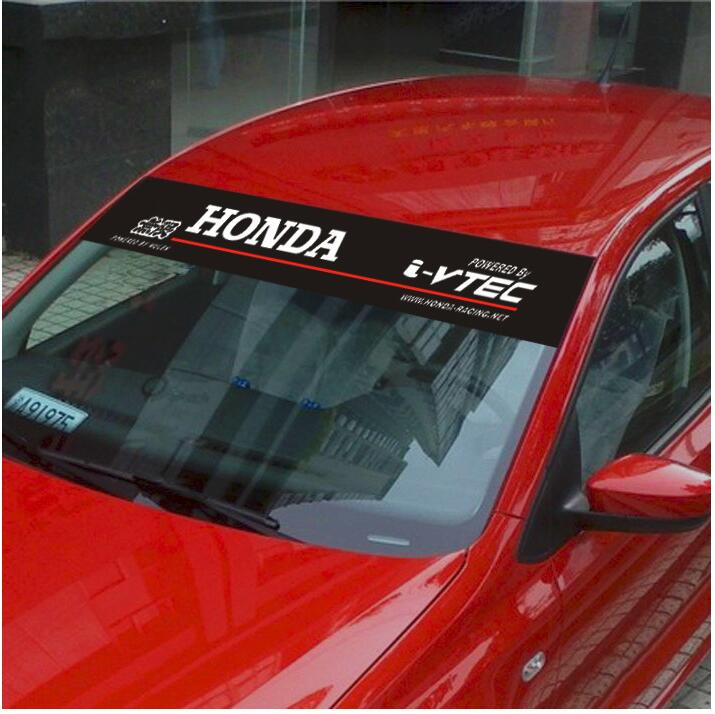 Free shipping Automobile label car stickers for HONDA Front windshield stickers for front window