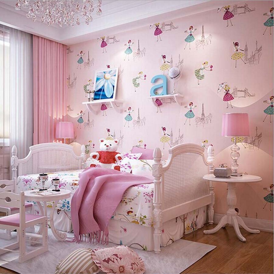 2016 new arrival cute ballet princess wallpaper lovely baby grils