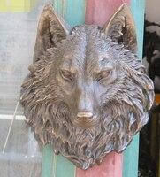 """Xd 003297 16 """"typ wiszący SZTUKA Brązu Zwierząt Wilk Dyrektor Duch Maski Gnoll Statua w Posągi i rzeźby od Dom i ogród na"""
