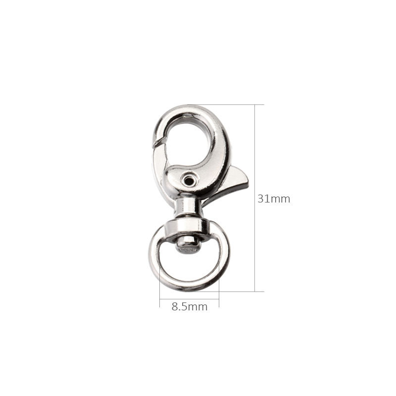 400Pcs 31mm Swivel Trigger Clips Snap Hooks Lobster Clasp for Keychain Bag DIY Craft Lobster key buckle Bs04ys03400Pcs 31mm Swivel Trigger Clips Snap Hooks Lobster Clasp for Keychain Bag DIY Craft Lobster key buckle Bs04ys03