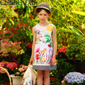 Summer Dress Girl Costume Kids Clothes 2017 Princess Dress with Floral Pattern Print Disfraz Infantil Girl Party Birthday Dress