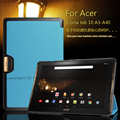 For Acer Iconia Tab 10 A3-A40 One 10 B3-A30 10.1 inch Tablet Ultra Slim Magnetic 3 Fold Stand PU Leather Cover Protective Case