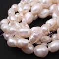 Free Shipping 5-7/8-9/9-10/10-11mm White Potato Natural Freshwater Pearl Beads For DIY Necklace Jewelry Making Strand 14.5""