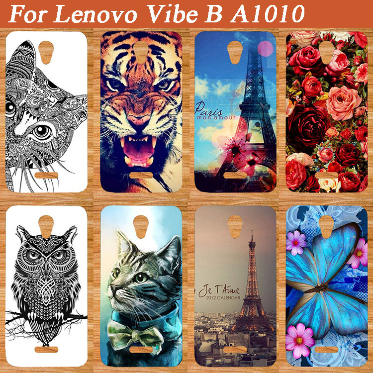 High Quality DIY Colorful case for Lenovo Vibe B A1010 Paintedlower animals Eiffel Towers design SOFT TPU Case For Lenovo a1010