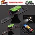 El último Estilo Accesorios CNC Universal de La Motocicleta Matrícula Luz LED Para KAWASAKI Z250 Z300 Z750 Z800 Z1000 Z1000SX