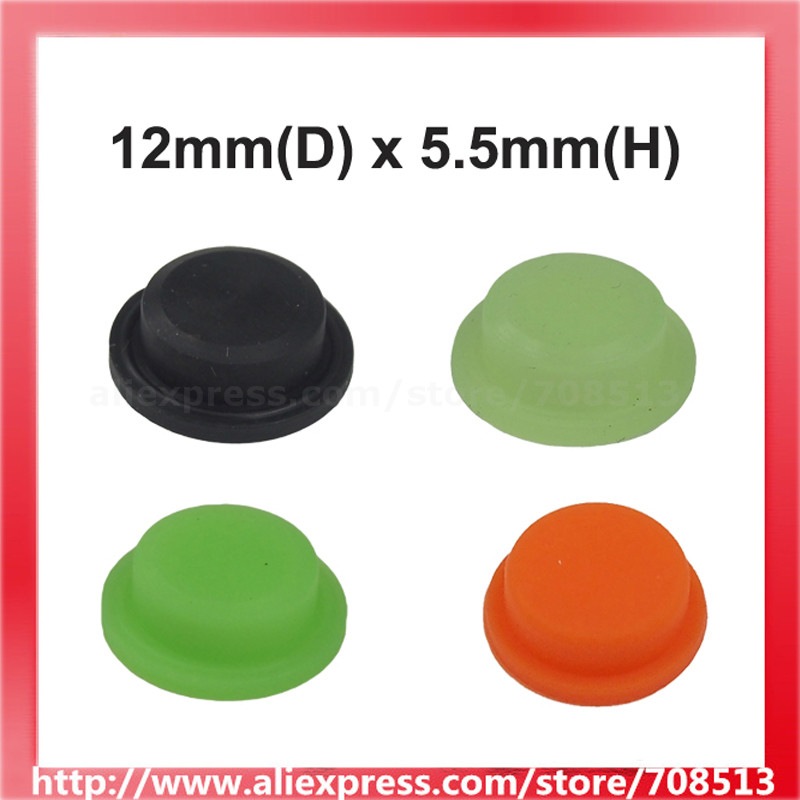 12mm(D) X 5.5mm(H) Silicone Tailcaps For LED Flashlight - 10 Pcs