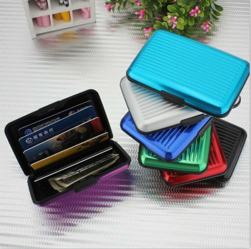 Metal Pocket Mini Case Business ID Credit Card Waterproof Aluminum Cards Holder Pocket Wallet Holder