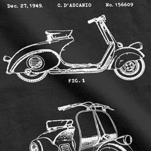 Unique Retro Motorbike T-Shirt