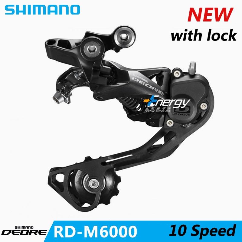 SHIMANO Deore XT VTT dérailleur pièces de vélo RD-M6000 vélo vélo vtt 10 vitesses vélo arrière interrupteur de Transmission