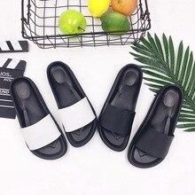 Летние женские горки Тапочки на толстой подошве Летние слипоны на сандалиях Черно-белая женская обув Лучший