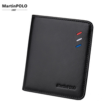 MartinPOLO New100% Genuine Leather wallet men Small Mini Ultra-thin Compact Cowhide Card Holder Short Design purse MP1002