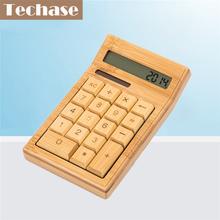 Techase CS19 Calculadora Calculadora Científica Calculadora Solar de Bambú De Madera 2017 Nuevo Hesap Makinesi Calculadora Financeira(China (Mainland))
