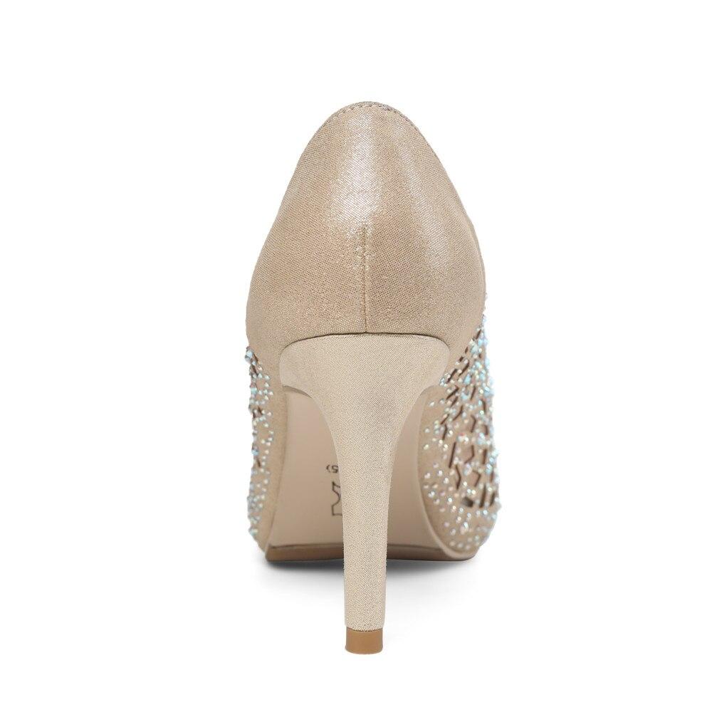 Ayakk.'ten Kadın Pompaları'de MORAZORA 2020 sıcak satış kadın pompaları zarif peep toe yaz ayakkabı sığ basit parti düğün ayakkabı 8.5cm yüksek topuk ayakkabı kadın'da  Grup 3