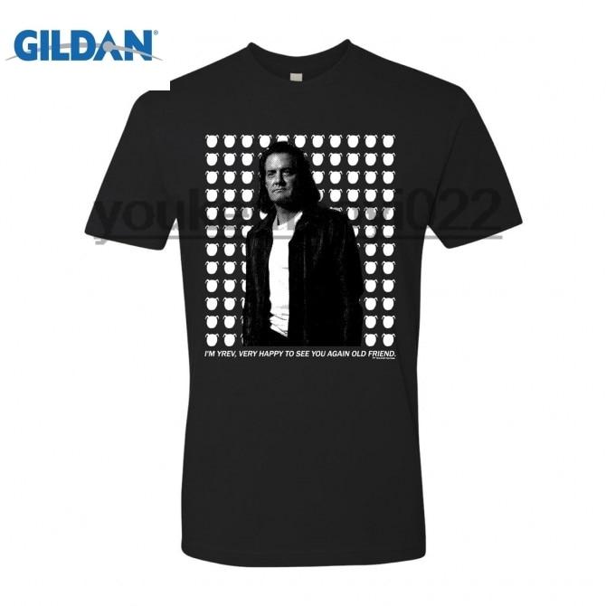 GILDAN TWIN PEAKS MR. C T-SHIRT (BLACK)