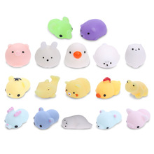 Lindo Mini Juguete Antiestrés Squishy Squeeze Mochi Rising Toys Funny Cartoon Animal Stress Reliever Niños Novedad Juguetes Correas telefónicas